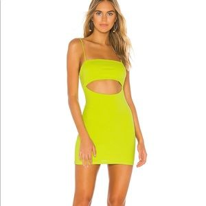 Delia Mini Dress in Neon Green Lovers + Friends